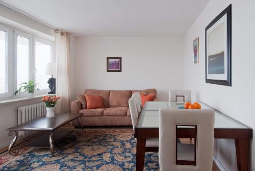 Posezení v ubytování City Center - Smolna Apartament