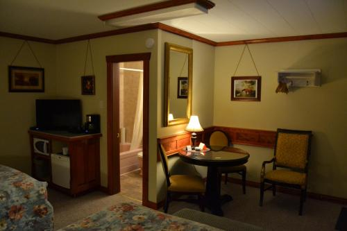 A television and/or entertainment center at North Star Motel