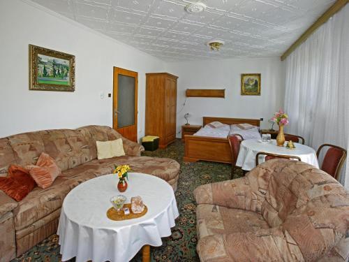 Posezení v ubytování Pension Villa Hany