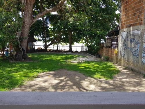 A garden outside CasaCamping Brilho do Sol