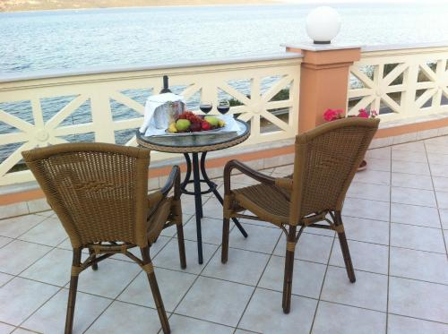 A balcony or terrace at Florena Hotel