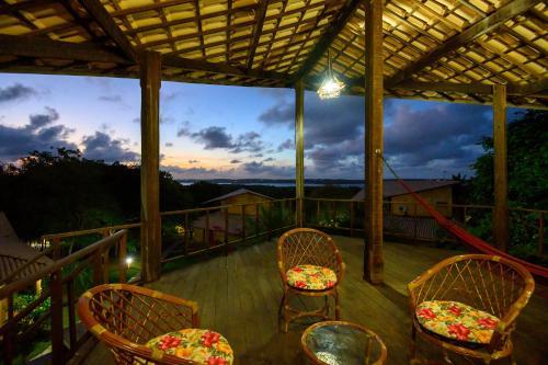 Uma varanda ou terraço em Lago Hotel