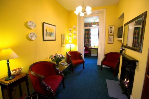 A seating area at The Redbank Guesthouse