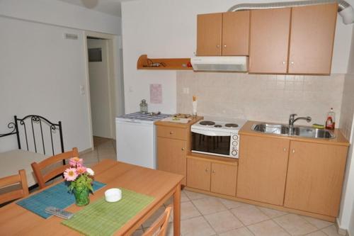 Η κουζίνα ή μικρή κουζίνα στο Handakas Studios