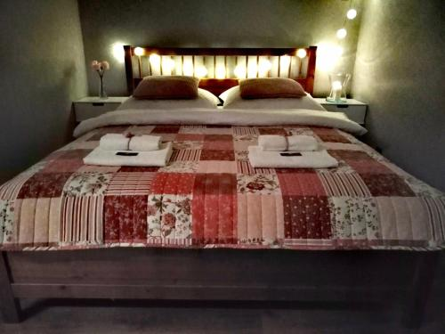 Łóżko lub łóżka w pokoju w obiekcie Apartamenty no3