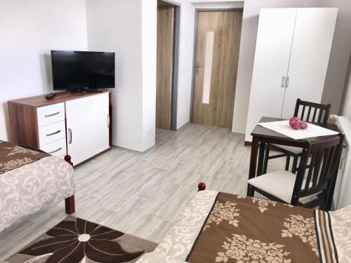 TV a/nebo společenská místnost v ubytování Apartmány Dagmar