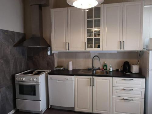 Kjøkken eller kjøkkenkrok på Trolltunga Apartments