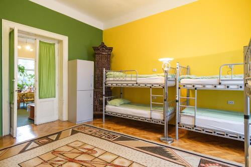 A bunk bed or bunk beds in a room at Transylvania Hostel
