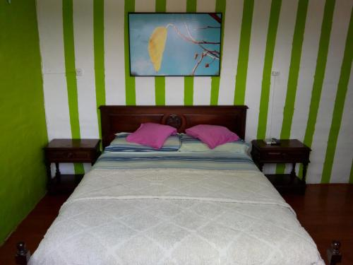 Una cama o camas en una habitación de La Higuerita