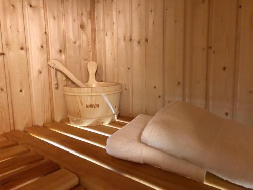 Spa and/or other wellness facilities at Sauna Apartment No.5 Leśny nad Zalewem z Tarasem