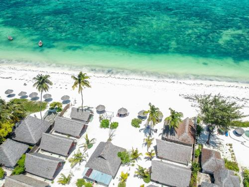 A bird's-eye view of Blue Waves Bungalows