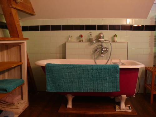 Un baño de B&B Mühlenvilla am Bützower Hafen