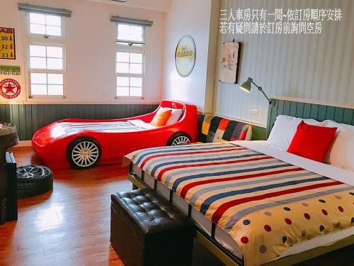 A bed or beds in a room at MiCarro B&B