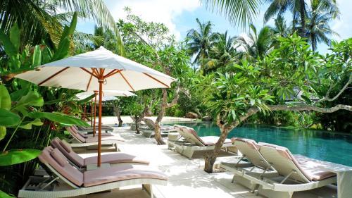 The swimming pool at or close to Jivana Resort