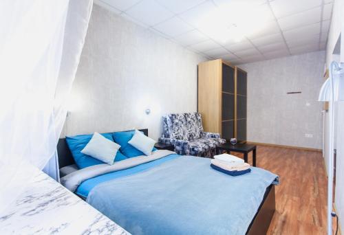 """Кровать или кровати в номере Guest House """"Happy Home"""""""