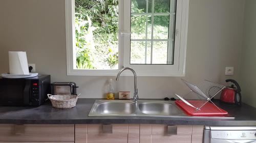 A kitchen or kitchenette at Les Terrasses de Niagara