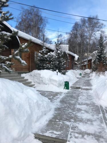 Бунгало на Банном during the winter