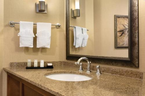 A bathroom at Embassy Suites by Hilton Bloomington/Minneapolis