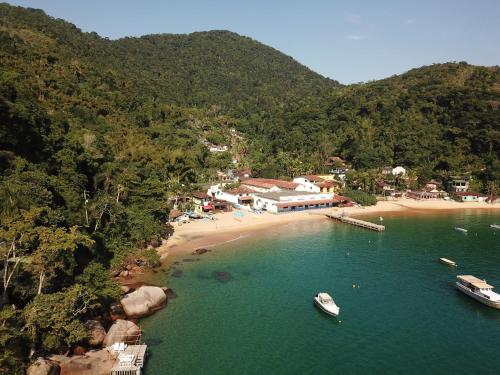 A bird's-eye view of Casarao da Praia