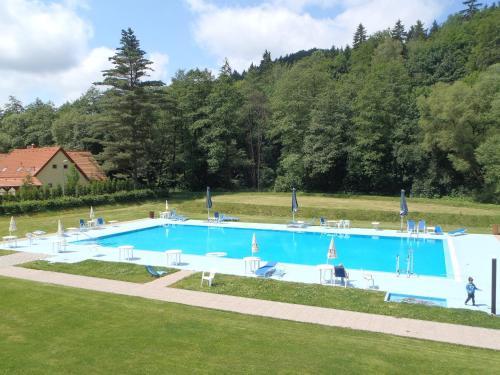 Bazén v ubytování Hotel Bazant nebo v jeho okolí