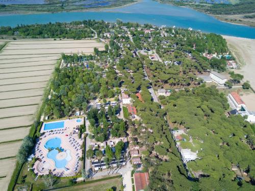 Letecký snímek ubytování Camping Laguna Village