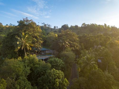 Mount Havana Luxury Boutique Villaの敷地内または近くにあるプールの景色