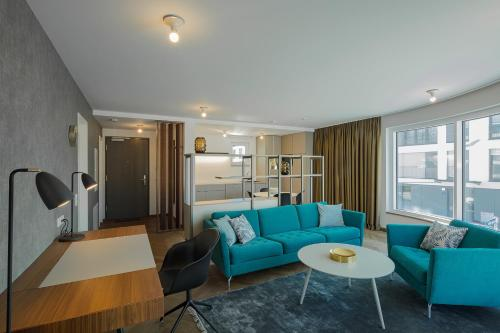 A seating area at DD Suites Serviced Apartments