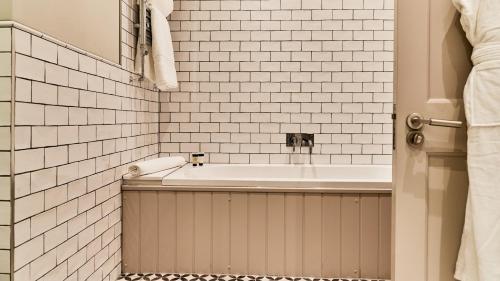 A bathroom at The Wellington Arms