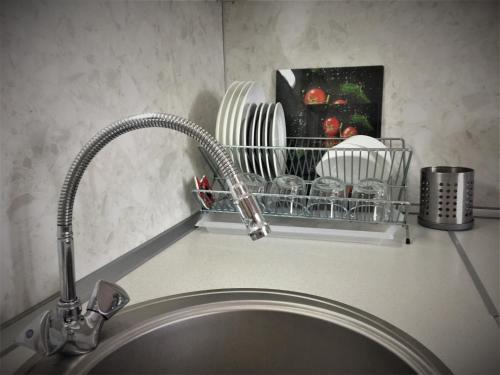 Кухня или мини-кухня в Apartment Tamogenaya Akademia 24
