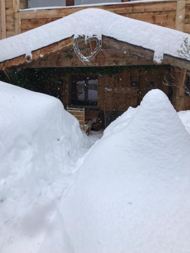 L'établissement Chalet Pomme de Pin en hiver