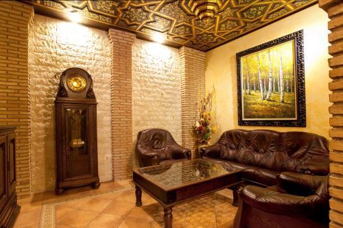 Гостиная зона в Hostal Rodri