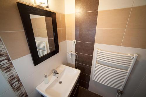 A bathroom at Kikelet Panzio