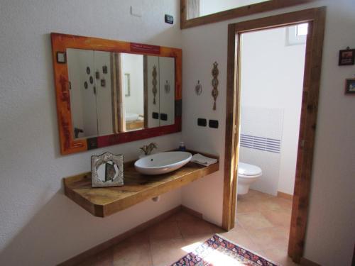 Ett badrum på B&B Casa Mia