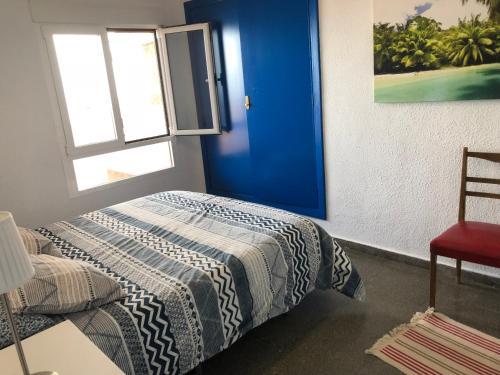 Cama o camas de una habitación en Fantástico apartamento en Faro de Cullera