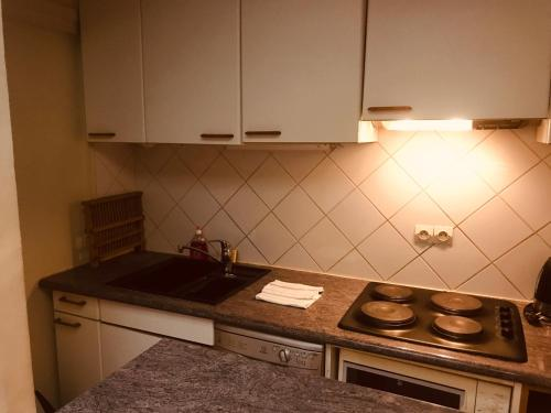 A kitchen or kitchenette at Apartment Living in Paris - Séguier