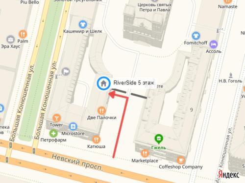 RiverSide Nevsky Hotelの鳥瞰図