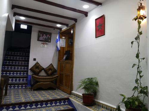 A seating area at Hôtel Koutoubia