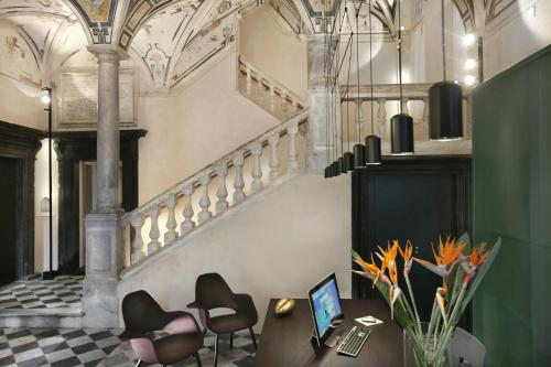 The lobby or reception area at Hotel Palazzo Grillo