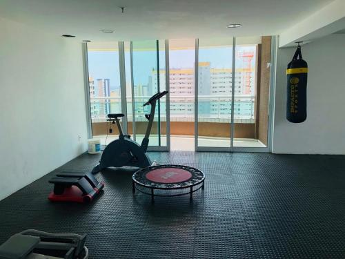 The fitness centre and/or fitness facilities at Studio Iracema - APTO 1502