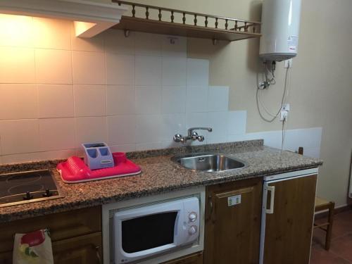 Una cocina o zona de cocina en Apartamentos El Silo