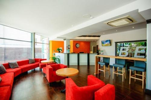 The lounge or bar area at Anapa Okean Health Resort
