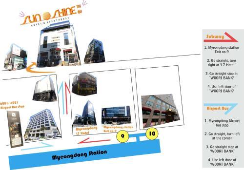Планировка Myeongdong Sunshine Guesthouse