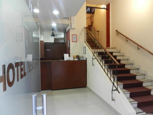 O saguão ou recepção de Hotel Nuevo Camino