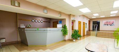The lobby or reception area at Sharya Hotel