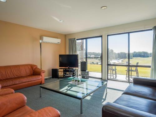 A seating area at Condo 108 @ Horizons Resort & Golf, stunning course + lake Views