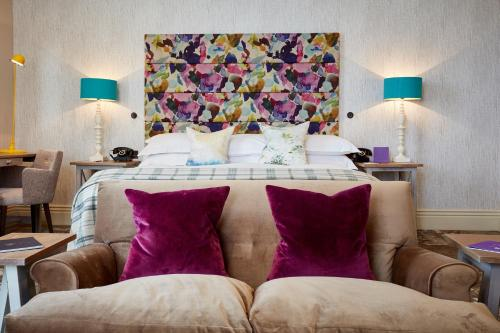 A bed or beds in a room at Seaham Hall and Serenity Spa