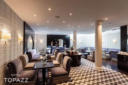 מסעדה או מקום אחר לאכול בו ב-Hotel Topazz & Lamée