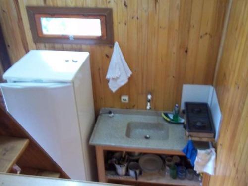 A bathroom at Refúgio Mãe Natureza