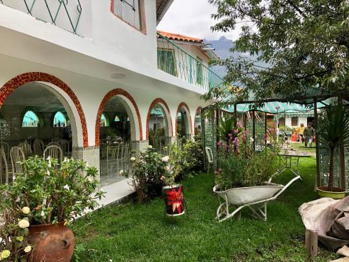 A garden outside Hotel Bellavista