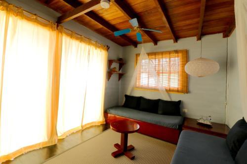 A seating area at Punta Caracol Acqua Lodge